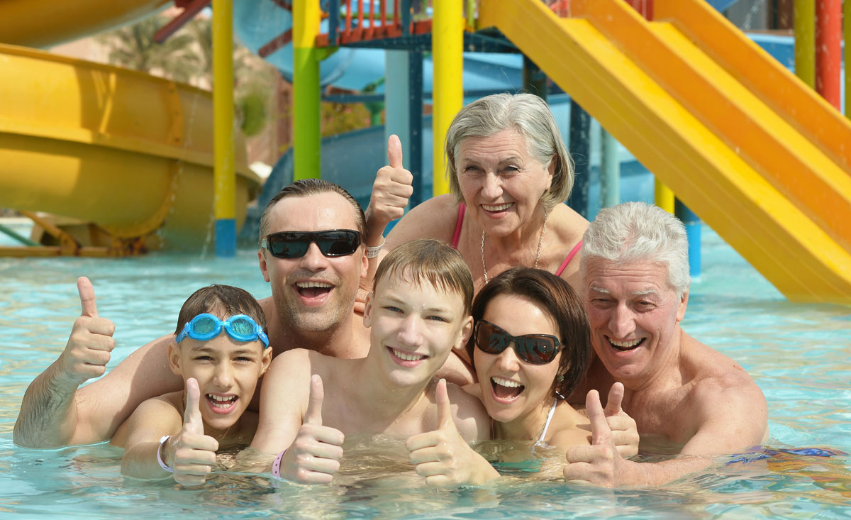 Familien Wellness in den Familien-Thermen in Österreich.