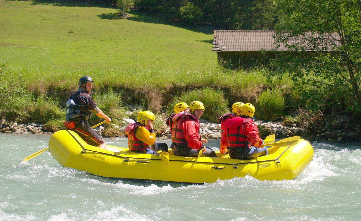 Rafting für familien